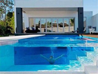 تخصيص ورقة شفافة الاكريليك ورقة شبكية سميكة لمشروع حمام سباحة