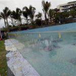 قطع مخصصة لوحات السباحة في الهواء الطلق الاكريليك