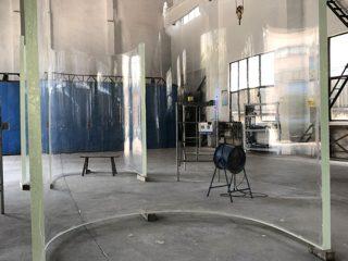عالية الجودة لوحات كبيرة الاكريليك الحوض المنحوتة زجاج الجداريات