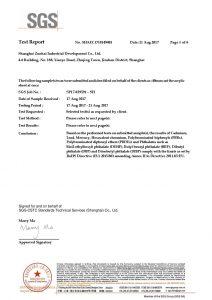 بنفايات شهادة اختبار EN
